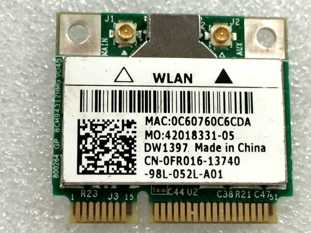 NEW DRIVER: BROADCOM BCM94312 WIRELESS