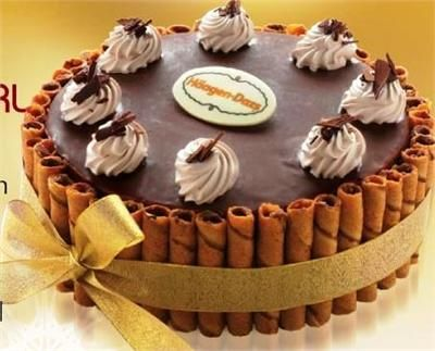 Cake Haagen Dazs Belgian Twirl Ice Cream