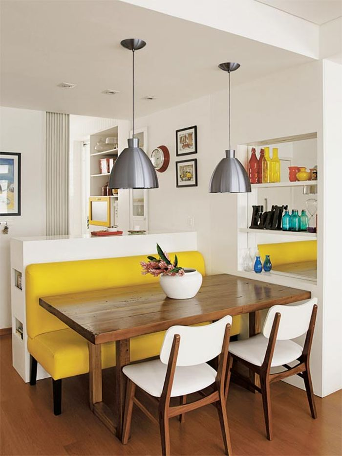 Un banc dans la cuisine aménagement intérieur Pinterest Salle