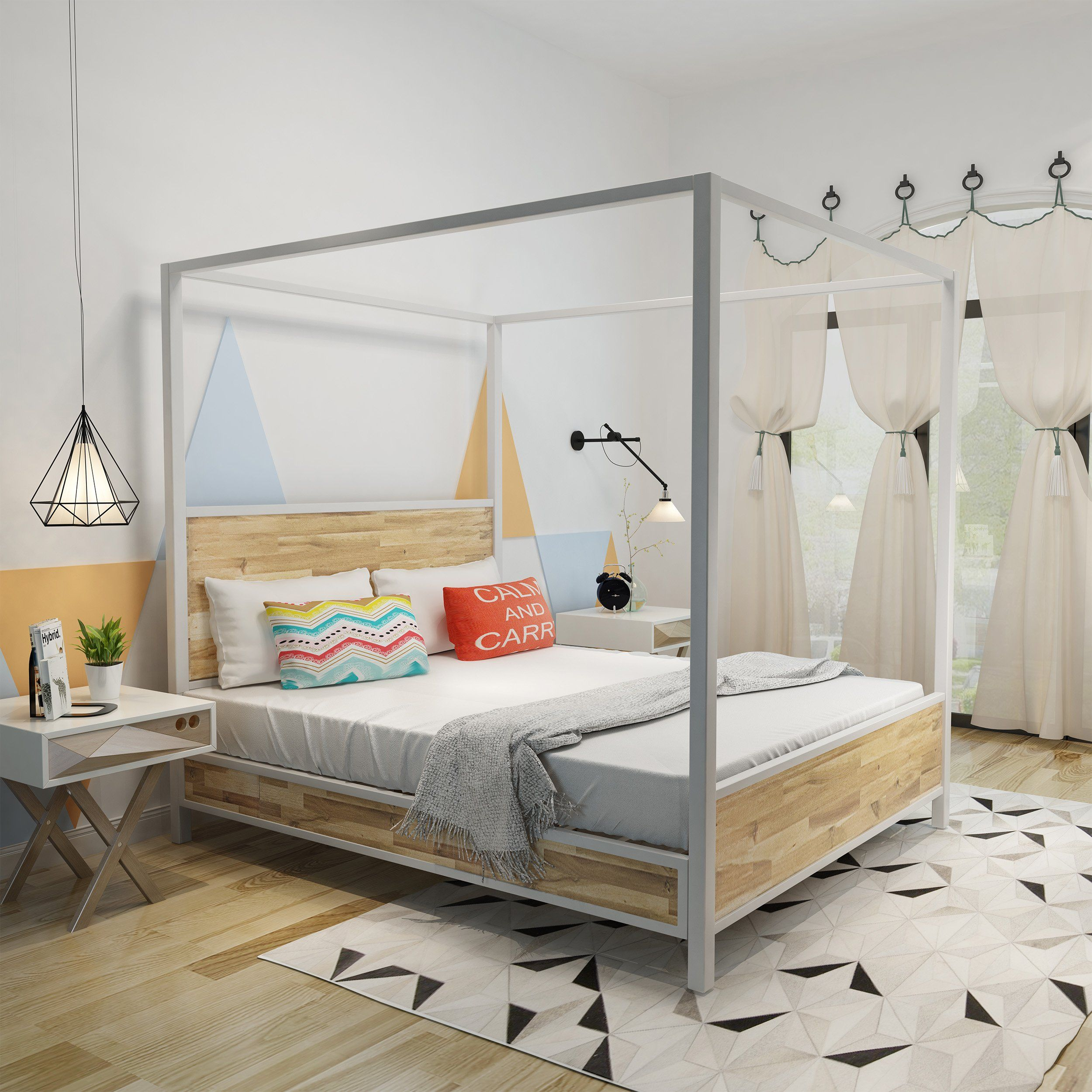 Trend New Zealand Pine Timber Bed, Double Timber beds