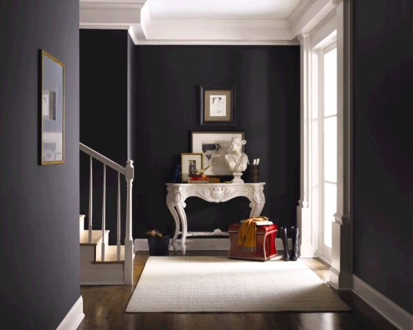 Black And Charcoal Gray Paint Colors For Kitchen Accent Wall Tricorn Black From Sherwin Williams Home Hgtv Home By Sherwin Williams Gothic Interior