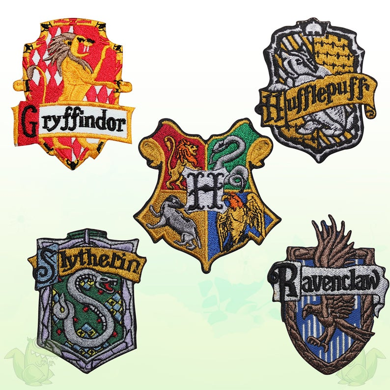 Harry Potter All Houses Movie Comics Super Hero Embroidered Etsy