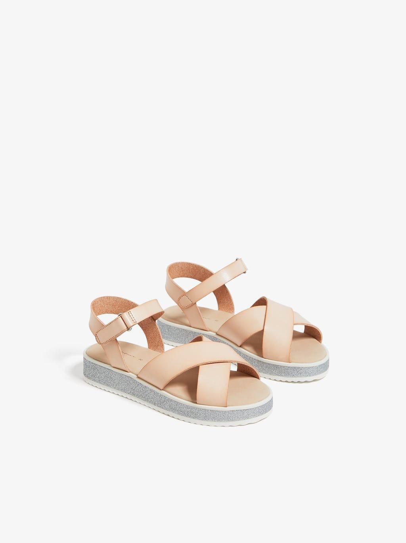 Sandalia Combinada Ver Todo Niña Zapatos Niños Zara España Zapatos Niña Zara Zapatos Para Niñas Zapatos