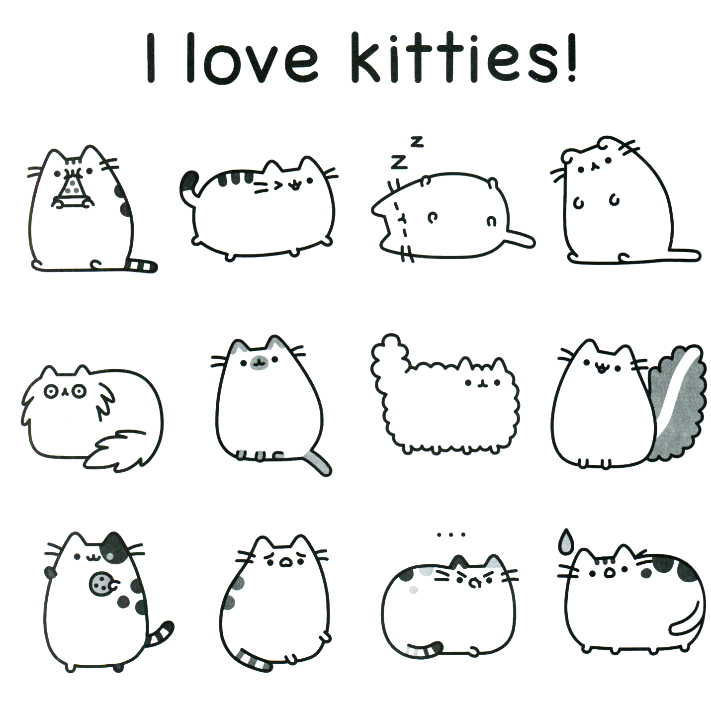 Pusheen Coloring Book Pusheen Pusheen the Cat | Gatos + gatos ...