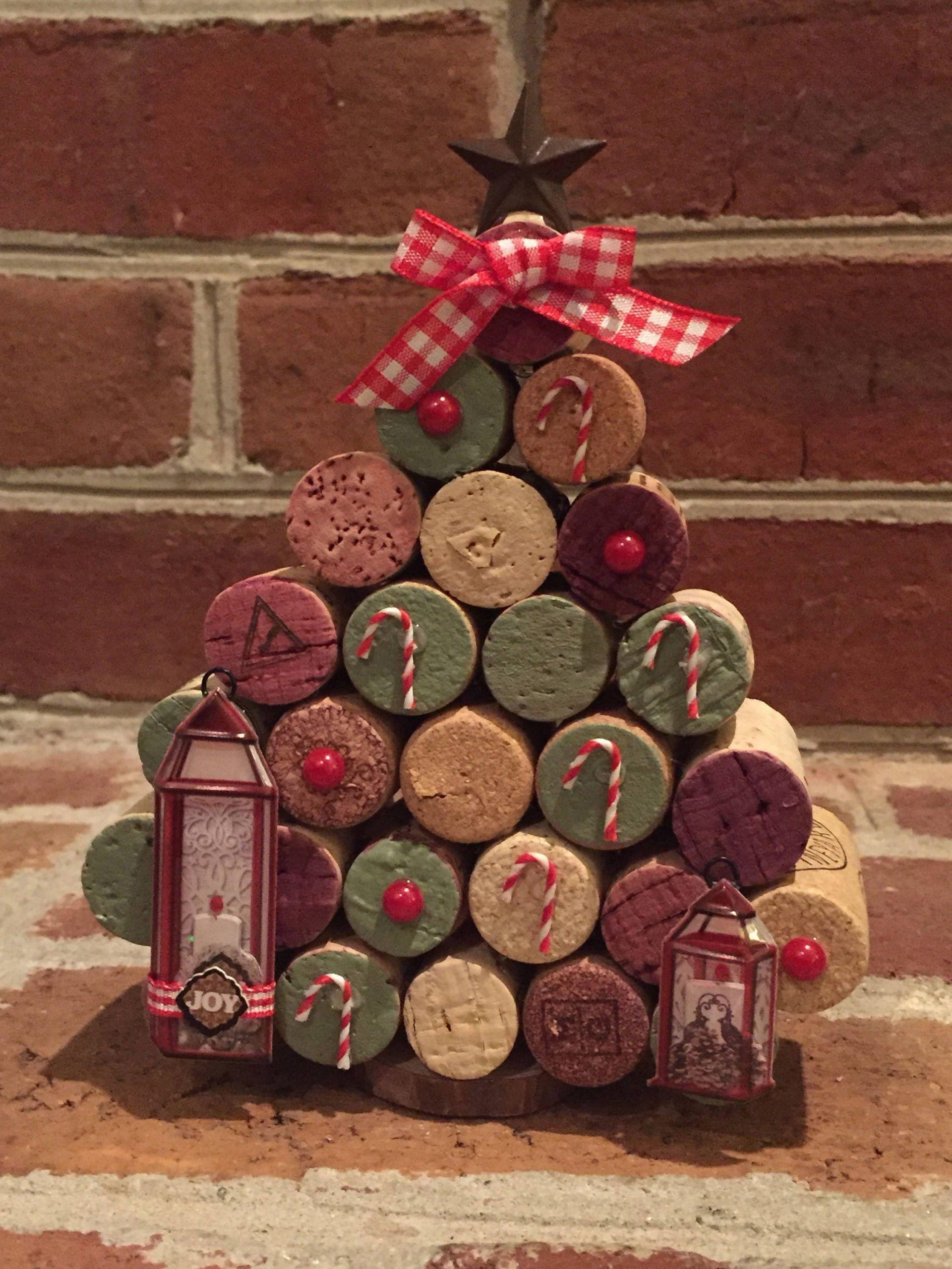 Wine Cork Small Christmas Tree Christmas Cork Small Tree Wine In 2020 Wine Cork Christmas Tree Cork Christmas Trees Wine Cork Crafts Christmas