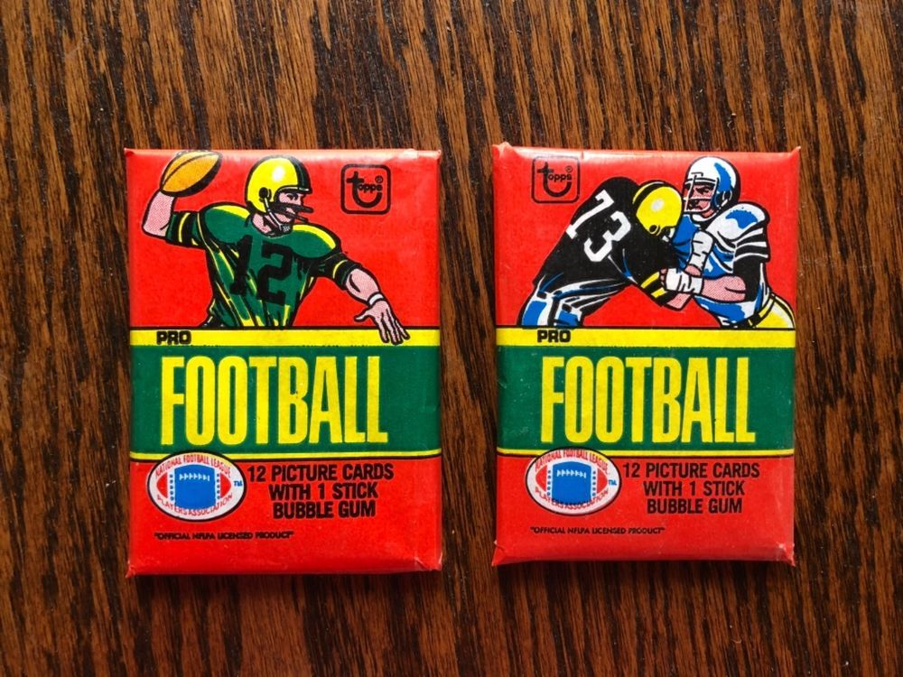 2 packs 1980 topps football unopened wax pack simms