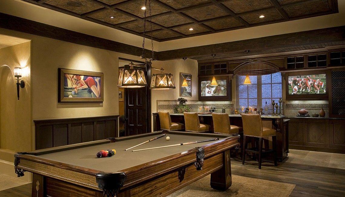Upscale Sports Lounge w/ Dual TV Screens and Generous Bar