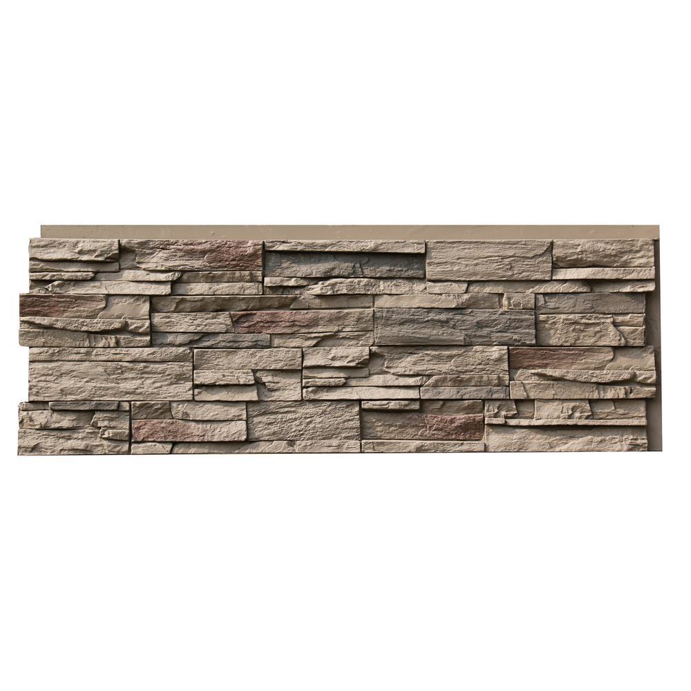 Nextstone Country Ledgestone 15 5 In X 43 5 In Teton Buff Faux Stone Siding Panel 4 Pack Clp Ttb 4 The Home Depot Stone Siding Faux Stone Siding Stone Veneer Siding