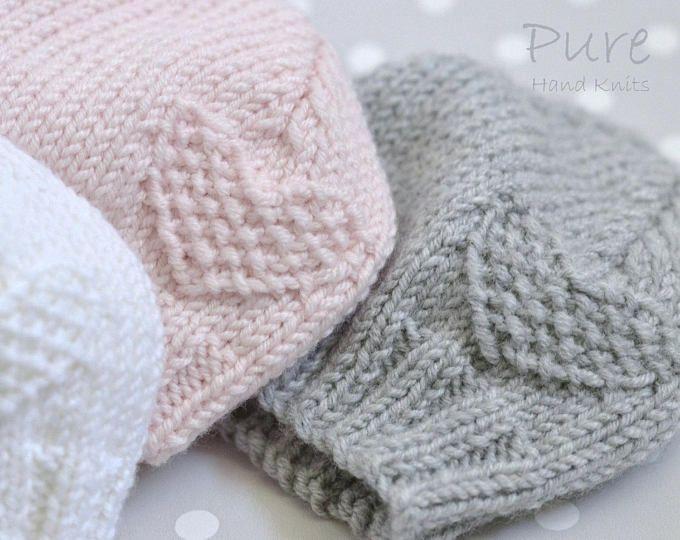 Preemie, Newborn, Baby, Toddler baby hat EASY knitting pattern #premiebabyhats
