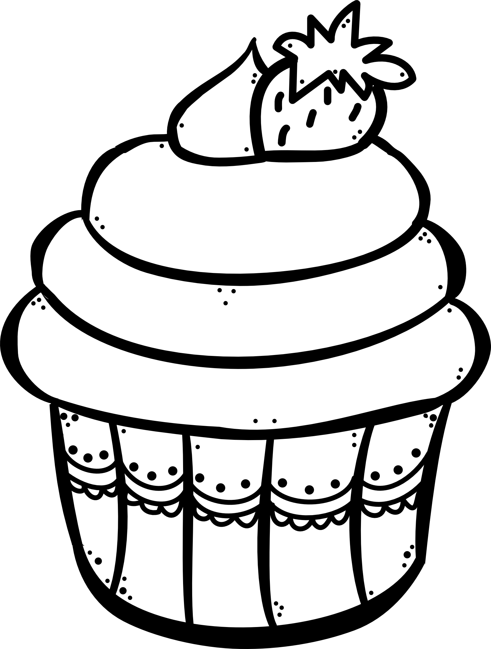 Cupcake para colorear | tecnicas y manualidades para Preescolares ...