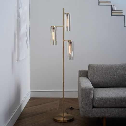 Glass cylinder floor lamp floor lamp lights and modern victorian west elms contemporary floor lamps are an easy way to update your home modern floor lamps add scale and drama to any room aloadofball Gallery