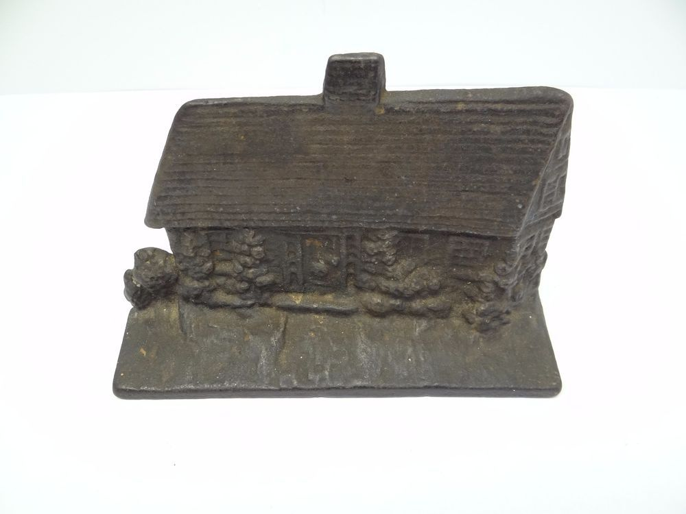 Antique Old Metal Cast Iron Heavy Cottage House Decorative ...