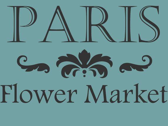 STENCIL Paris Flower Market 10x7 by ArtisticStencils on Etsy, $12.00