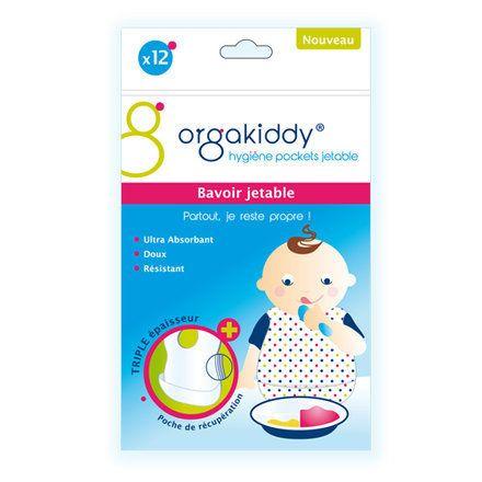 Bavoir jetable pour bébé et enfant - Lot de 12