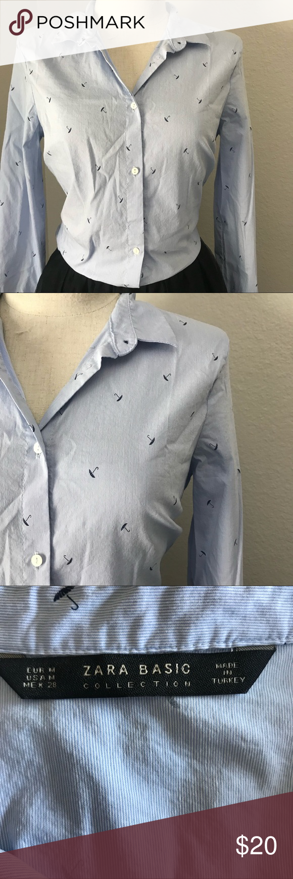 Zara button down long sleeves blouse In excellent used condition  Cute umbrellas all over this shirt that can be dressed up or down. It's also stretchy. Zara Tops Button Down Shirts #cuteumbrellas Zara button down long sleeves blouse In excellent used condition  Cute umbrellas all over this shirt that can be dressed up or down. It's also stretchy. Zara Tops Button Down Shirts #cuteumbrellas Zara button down long sleeves blouse In excellent used condition  Cute umbrellas all over this shirt t #cuteumbrellas