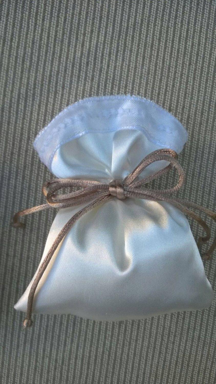 Sacchetti Per Confetti Matrimonio Bomboniere Matrimonio Cerimonia Dimens 12x10 Cm Rosa Champagne Small Gifts Favor Bags Party Favor Bags