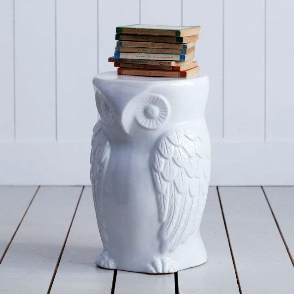 Graham Green Mr Wild Owl Stool Ceramic Owl Wild Owl