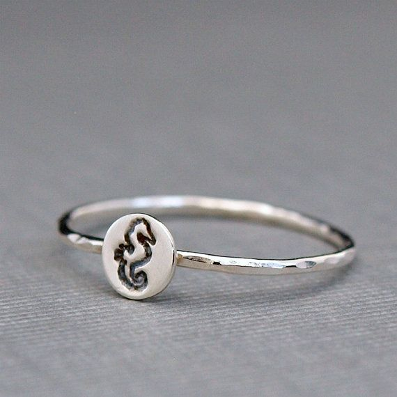 Hey, I found this really awesome Etsy listing at https://www.etsy.com/listing/162571274/tiny-sterling-silver-ring-seahorse-ring
