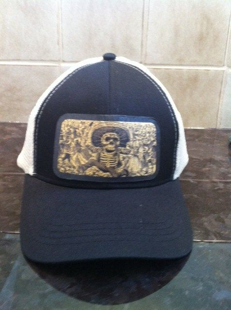 Trucker Hats Day of the Dead Art Work by Hipstertown on Etsy d348d2256207