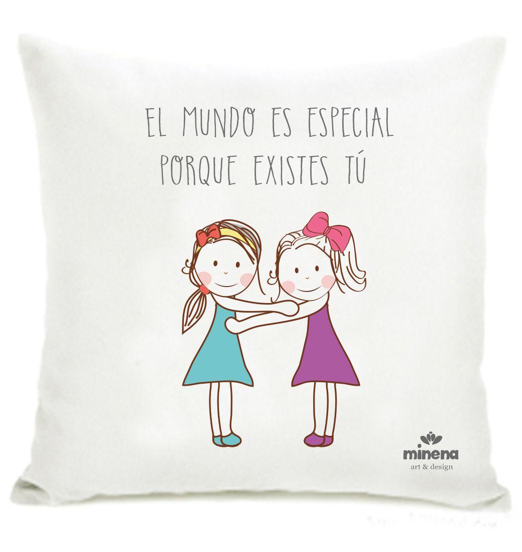 Hermosa almohada de la amistad para decorar tu habitación o para ...