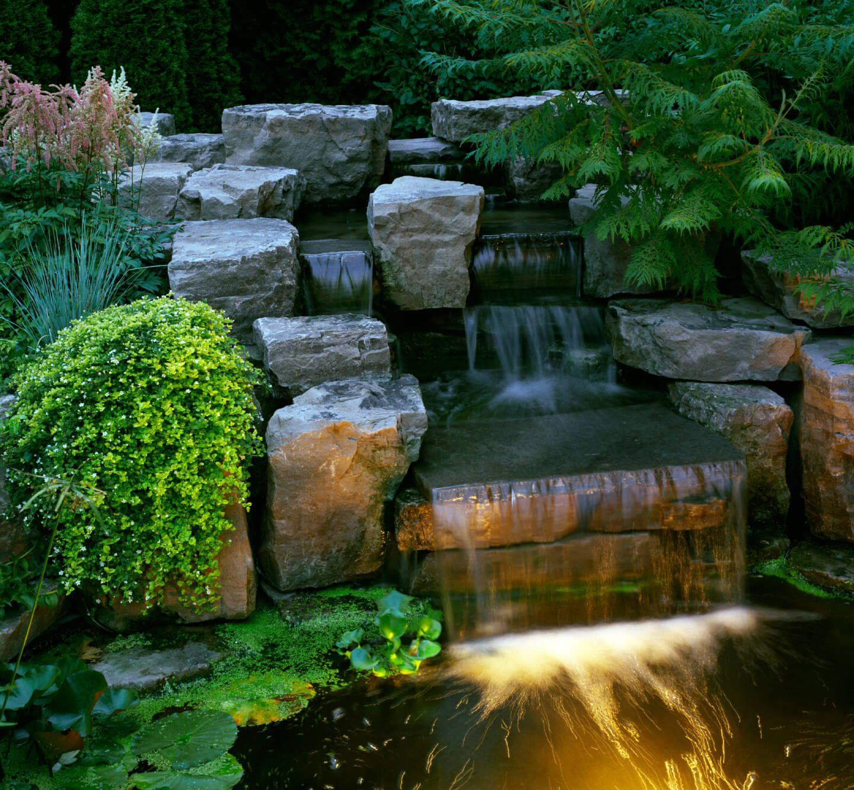 50 Pictures of Backyard Garden Waterfalls (Ideas & Designs ... on Rock Garden Waterfall Ideas  id=39556