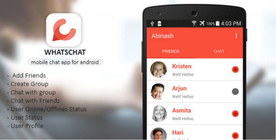 Whatschat - Whatsapp Clone | Mobile Apps | Android apps