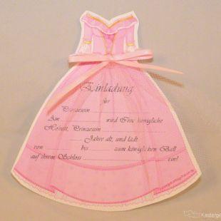 Einladung Zum Kindergeburtstag, Prinzessinnen Kleid