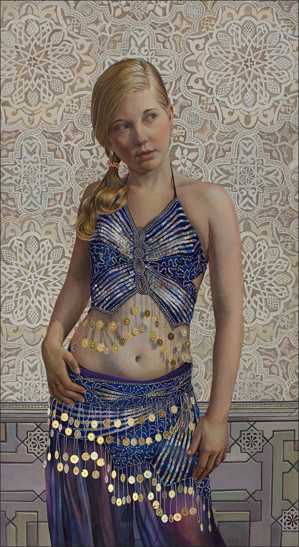 Fred Wessel (tempera with gold leaf)