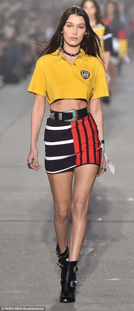 4b563725 and younger sister Bella Hadid did not disappoint as they took to the  runway on Wednesday evening for the designer's runway show in Venice Beach,  California .
