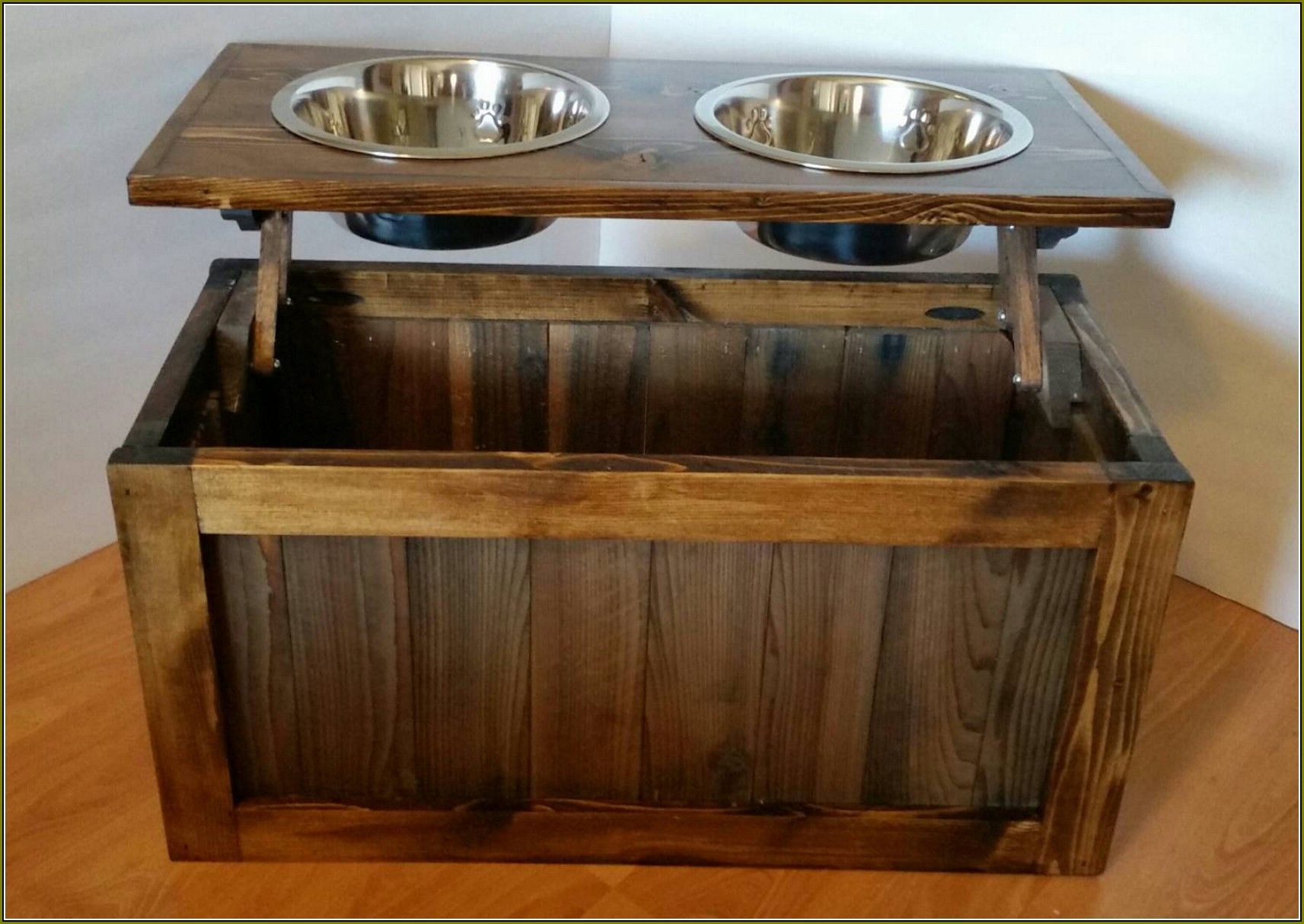 Pet Food Cabinet Plans Dog Storage With Bowls Diy Pet Food Cabinet
