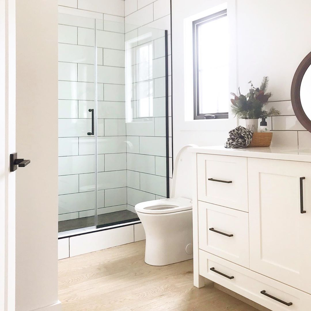 Farmhouseonfifth On Instagram Good Morning Sunshine I Am So Glad We Decided To Put A Wind In 2020 Shower Doors Kitchen And Bath Design Bathroom Remodel Master