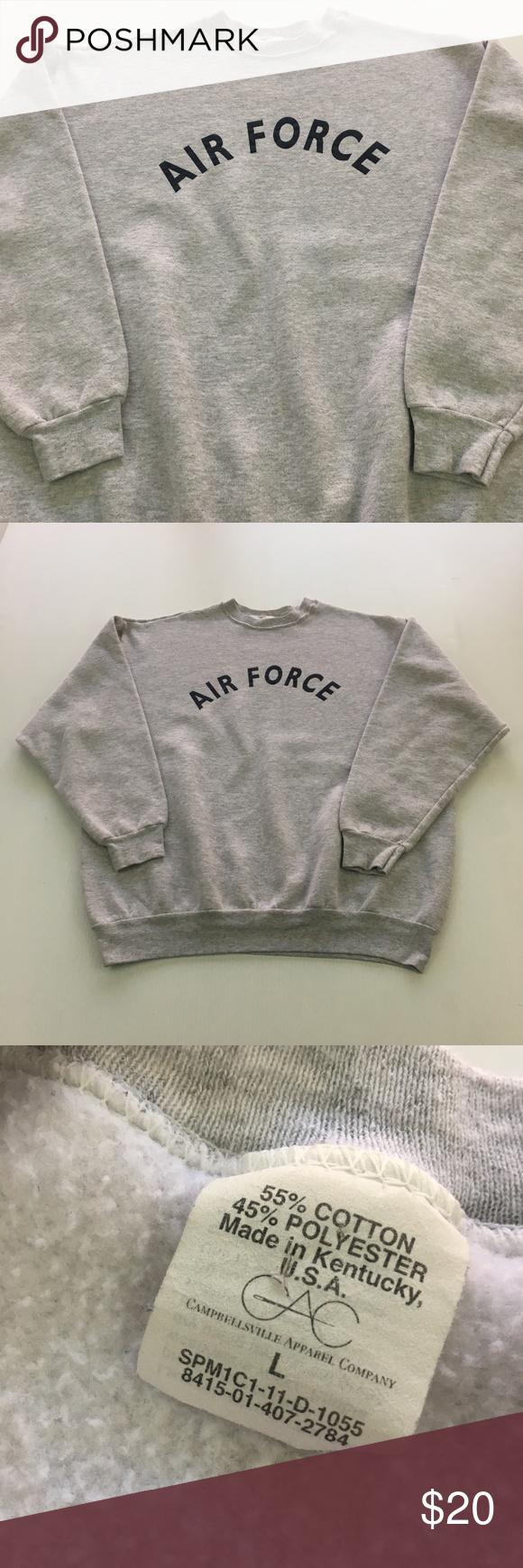 Vintage Air Force Sweatshirt Usa Gray L Crewneck Air Force Sweatshirt Vintage Air Sweatshirts [ 1740 x 580 Pixel ]