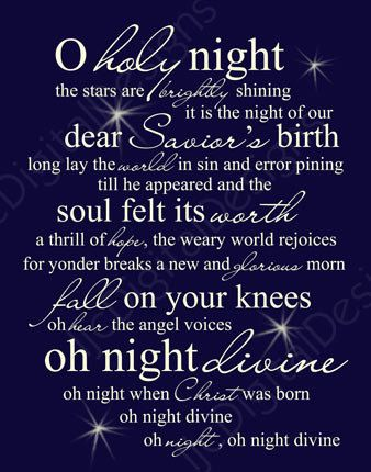Printable digital o holy night christmas word by ljcdigitaldesigns my favorite christmas song o holy night christmas word art lyrics printable digital typography decoration and via etsy stopboris Choice Image