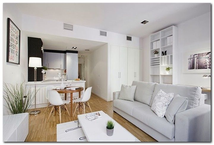 50 Decoration Ideas Make Small Apartment Look Big The Urban Interior Living Room Dining Room Combo Living Room And Kitchen Design Open Plan Living Room
