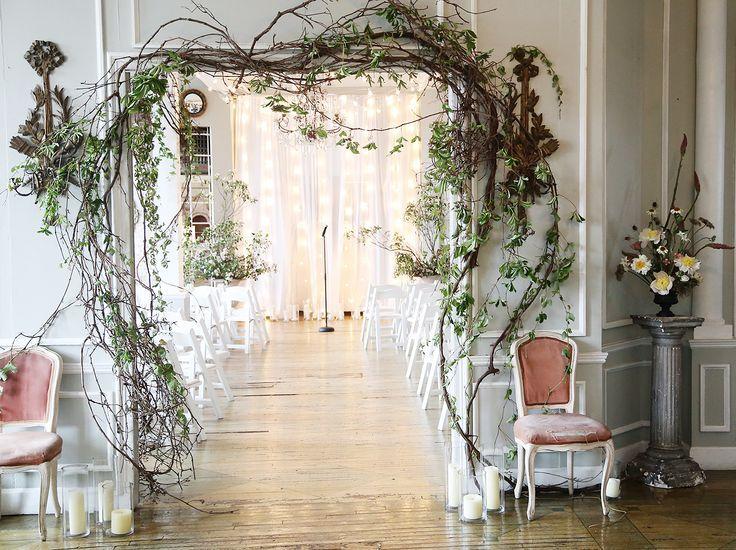 wedding archway ivy grapevine branches wedding ideas wedding rh pinterest com