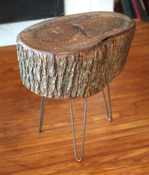 17 Apart: How To: DIY Stump Table We Have 3 Stumps. I Think