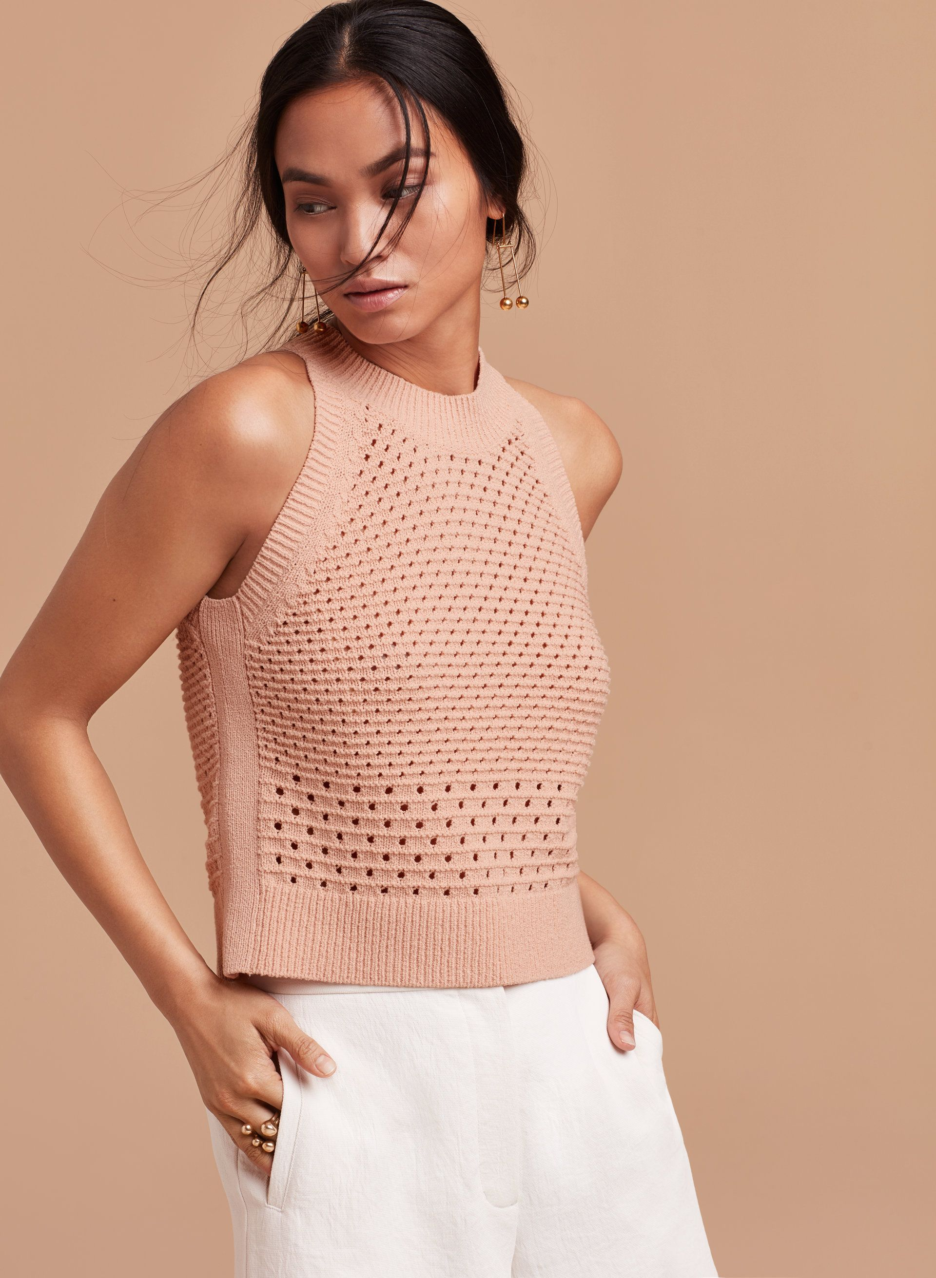 Knitting Summer Top : Taverny knit top crochet knitwear and