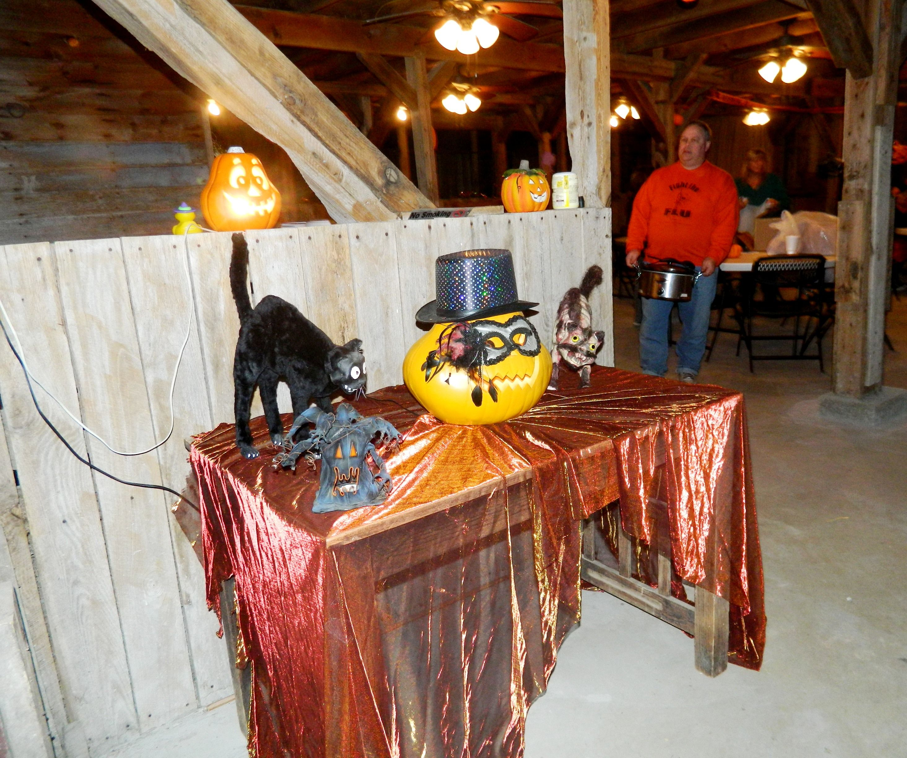Church group's Halloween party inside the Wedding Barn/Events ...