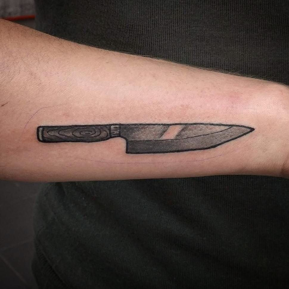 Dagger tattoo meanings itattoodesigns - Chef S Knife I Did Some Days Ago Too Busy To Post For Enquiries