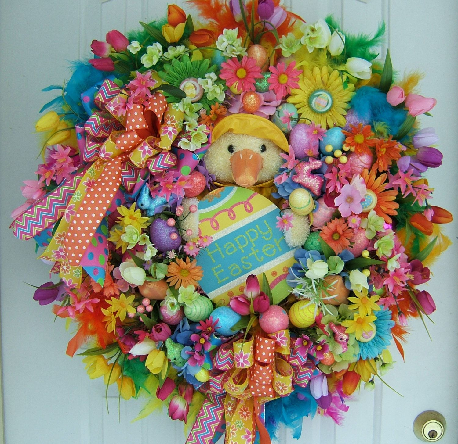 Sale today only, XXL Easter wreath, Spring wreath, Door wreath ...
