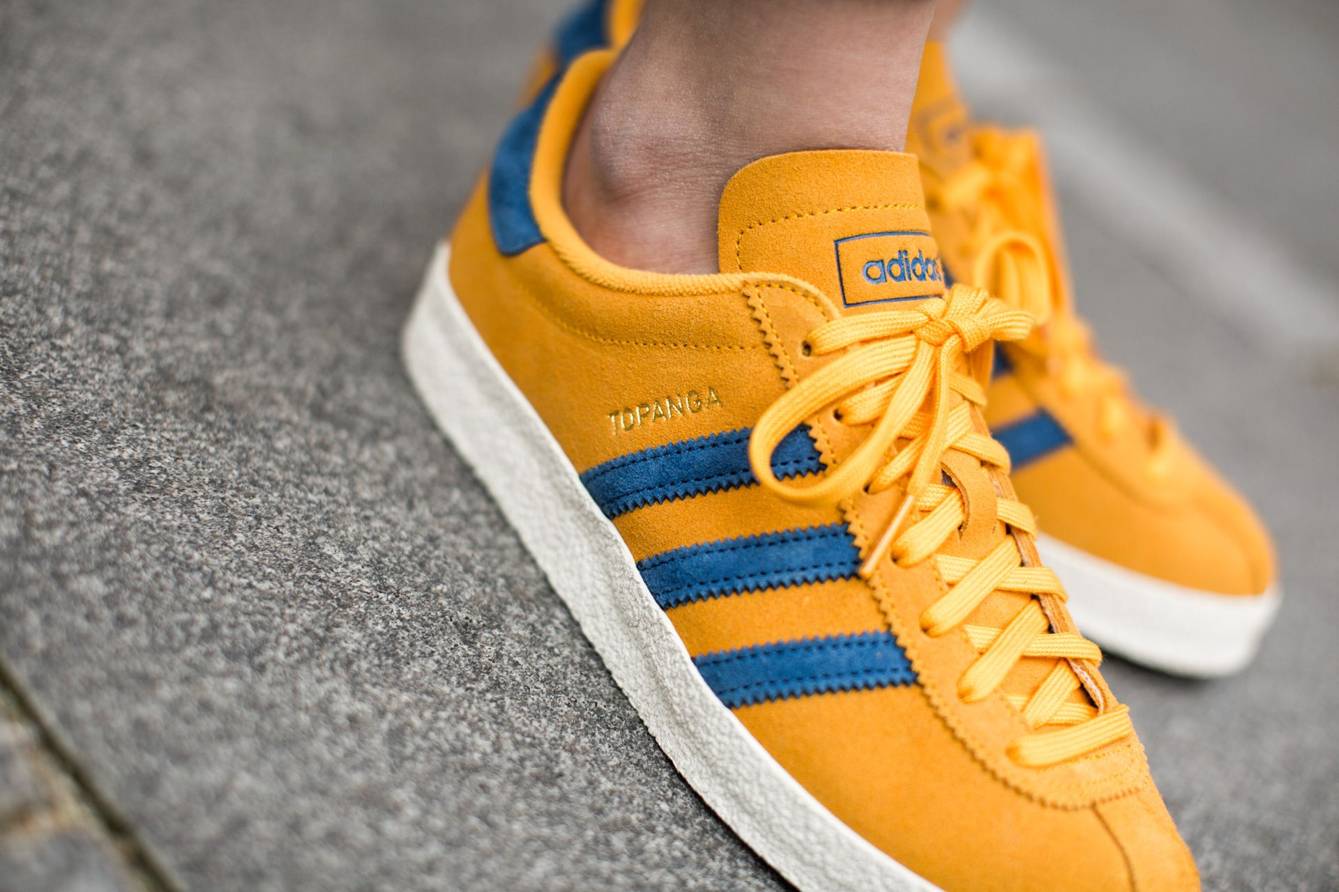 ADIDAS ORIGINALS TOPANGA COGOLD/DMARIN/OWHITE available at  www.tint-footwear. Suede SneakersSneakers ...