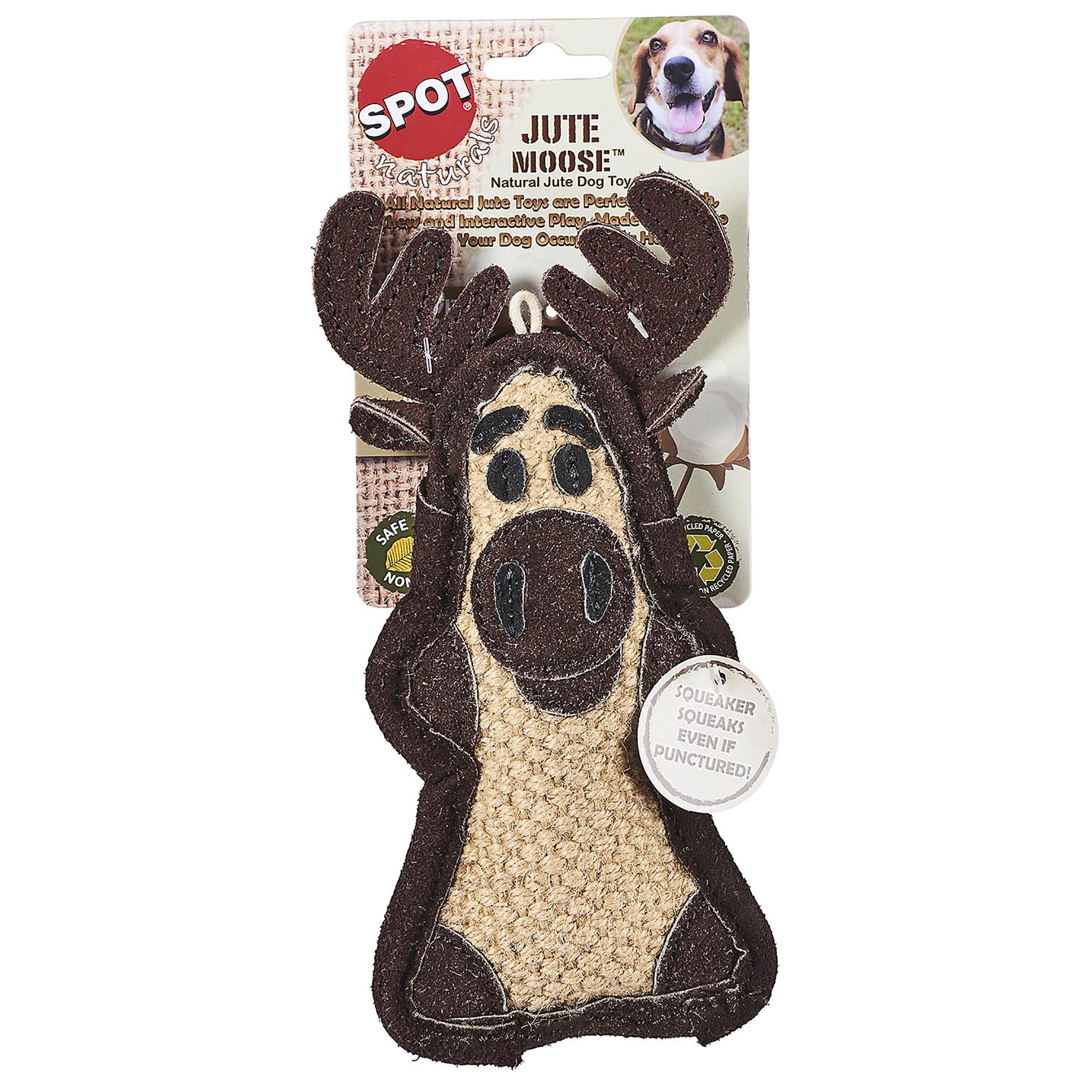 Spot Naturals Jute Critters Moose Dog Chew Toy Large In 2019