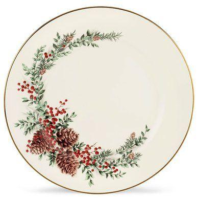 Lenox Wiliamsburg Boxwood Pine Gold Banded Ivory China Christmas China Patterns Christmas Dinnerware Christmas Tableware