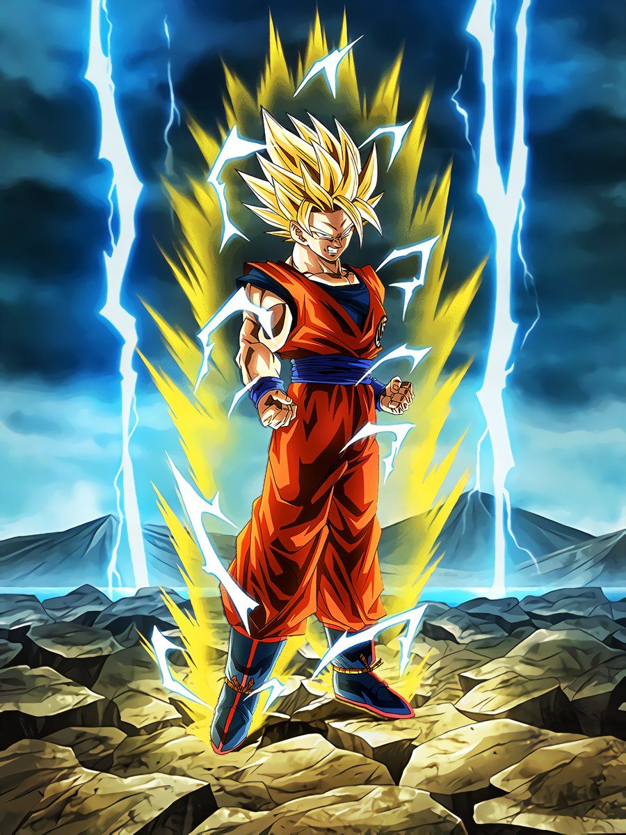 "Boiling Power] Super Saiyan 2 Goku ""I'll deal with you once and for all!"" 