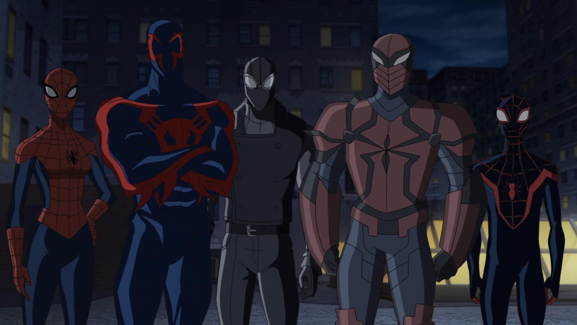 Spider-Girl, Spider-Man 2099, Spider-Man Noir, Spyder ...