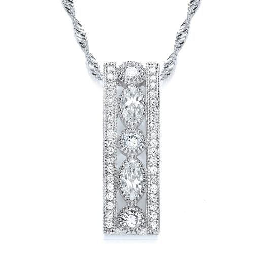 b8da828ba6c917 Bouton Jewellery Sterling Silver Pretty Stone Pendant #wedding #pendant  #bridal #necklace #bouton #shadesoftime