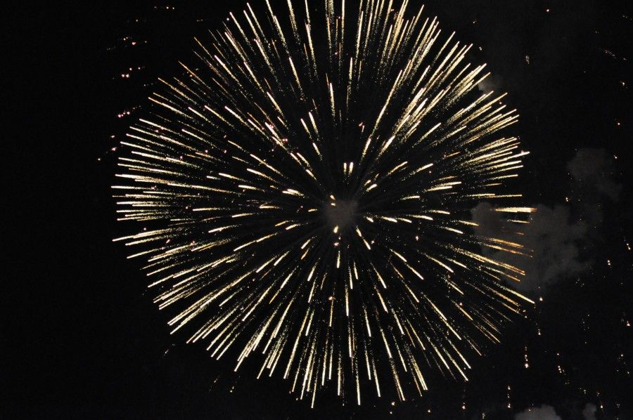 Fuegos Artificiales Celebracion Explosion Fuegos Artificiales En