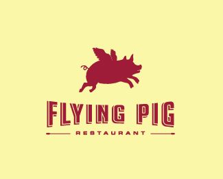 Logo Design - Flying Pig   logo   Pinterest   Flying pig ...
