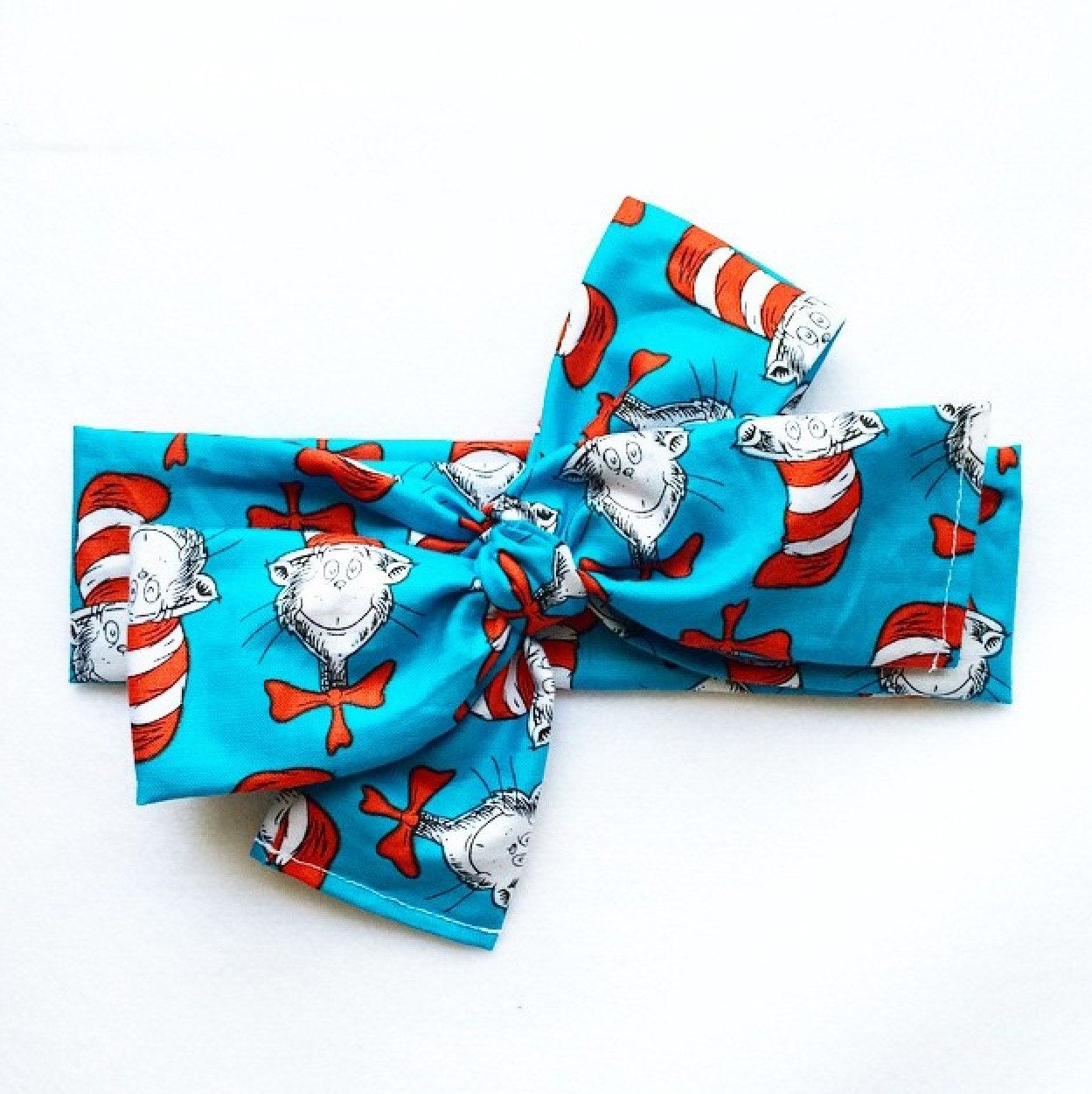 The Cat In The Hat Head Wrap // Dr Seuss // Retro // Soft // Headbands // Head wrap // Headwrap // Top Knot by becrushbows on Etsy