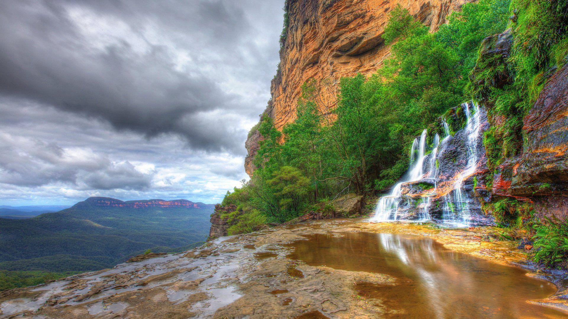 MOUNTAIN WATERFALL WALLPAPER HD Wallpapers 1920x1080 Mountain Waterfall 45